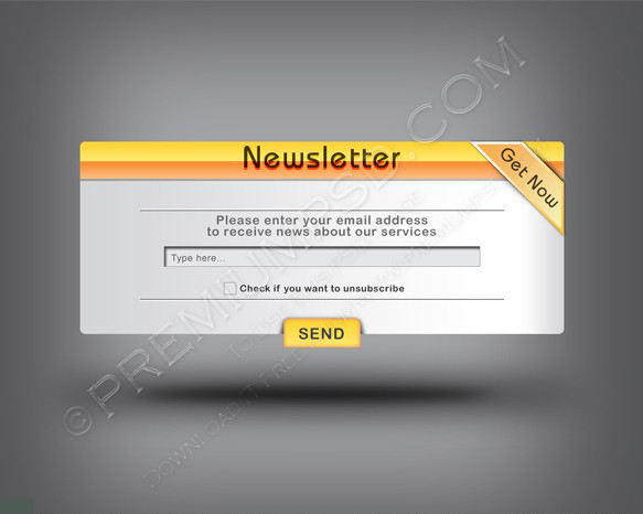 Web 2.0 Newsletter Banner Template