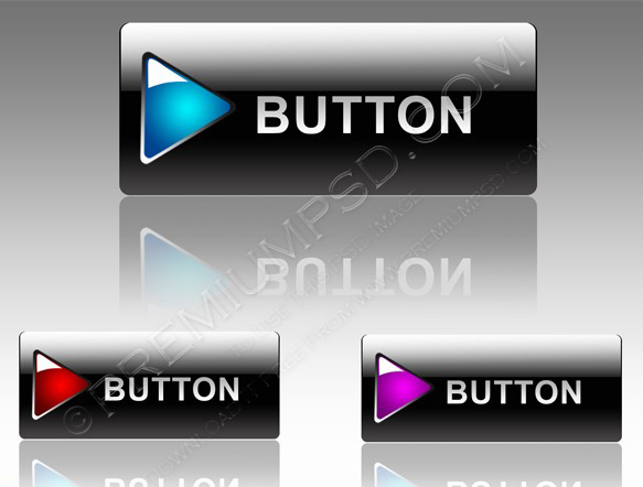 Black Buttons for web design