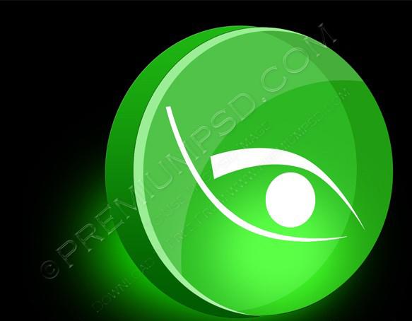 Eye 3d icon Vector illustration