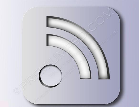 silver RSS symbol Icon