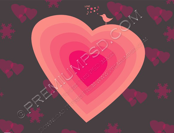 Sweet pink Heart vector