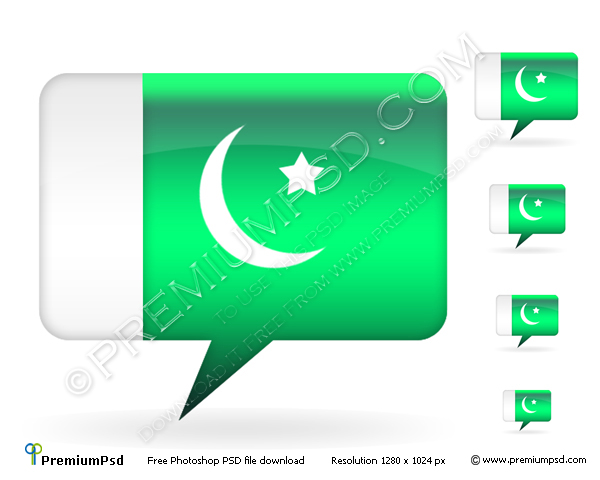 3D Pakistan Flag Vector – PSD Download