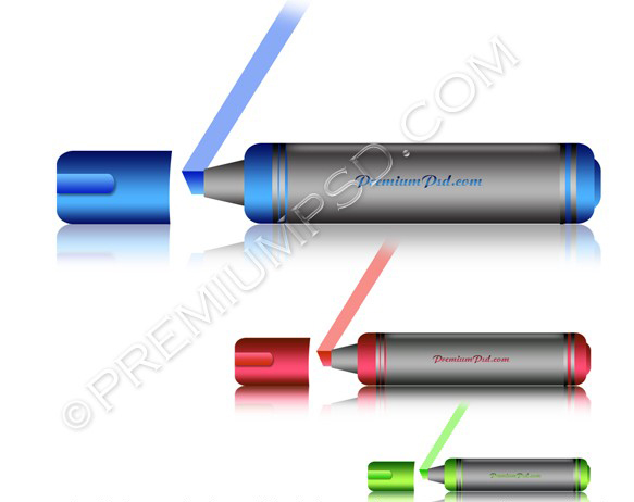 Colourful Marker Vector