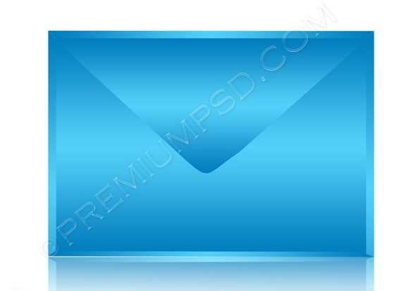 blue e mail icon