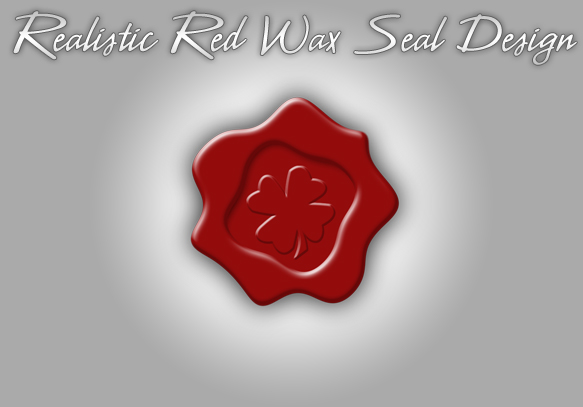 Realistic red Wax Seal design
