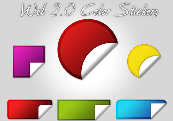 Web 2.0 Color Stickers