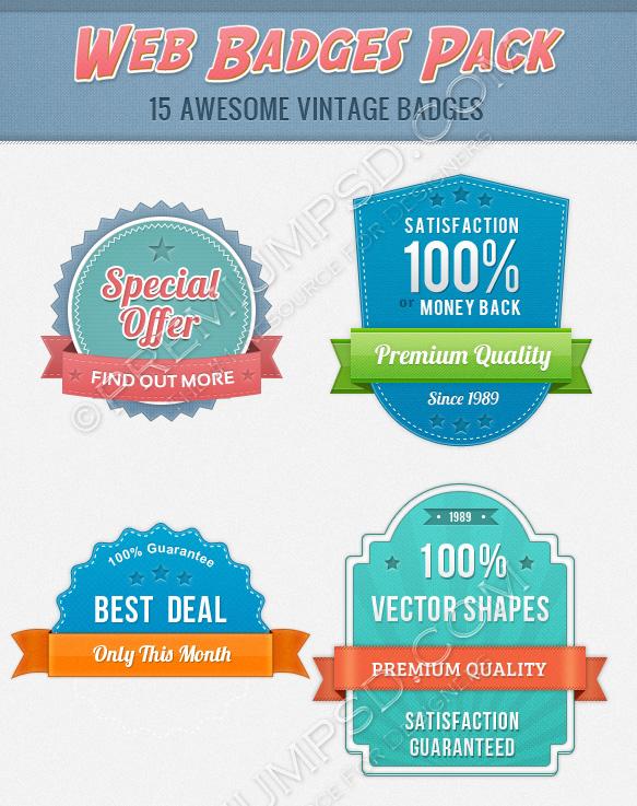 web badge pack