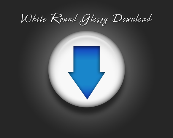 White-round-glossy-download-icon