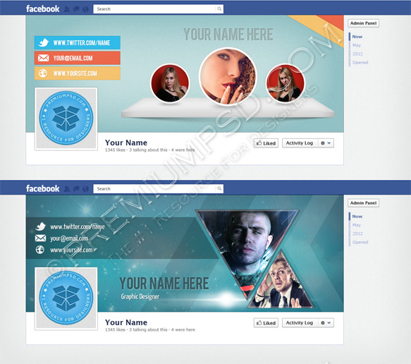facebook timeline header design