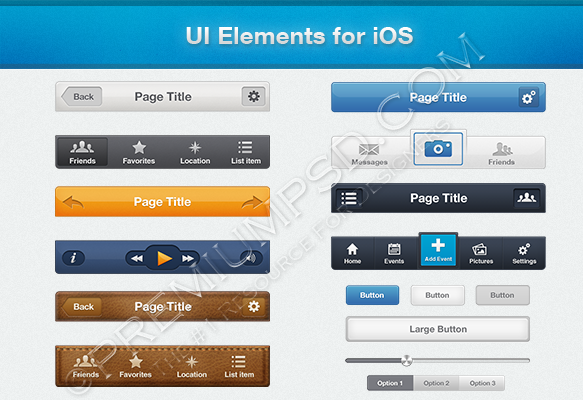 UI Elements for iOS